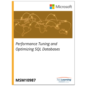 10987 - Performance Tuning and Optimizing SQL Databases