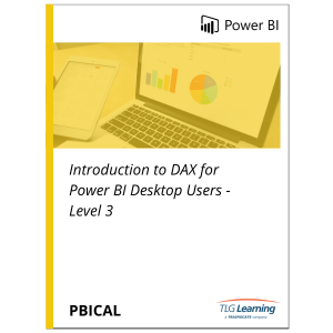 Introduction to DAX for Power BI Desktop Users - Level 3