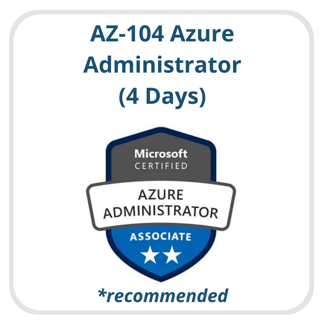 AZ-104 Azure Admin Recommended
