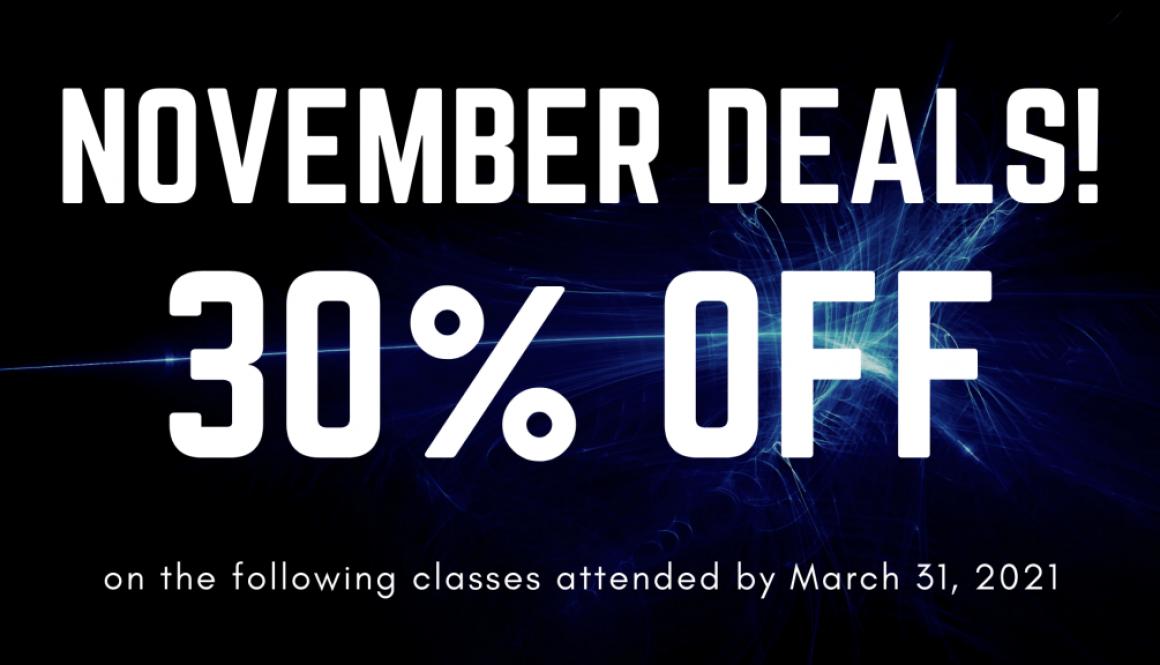 30% Off November Promotion