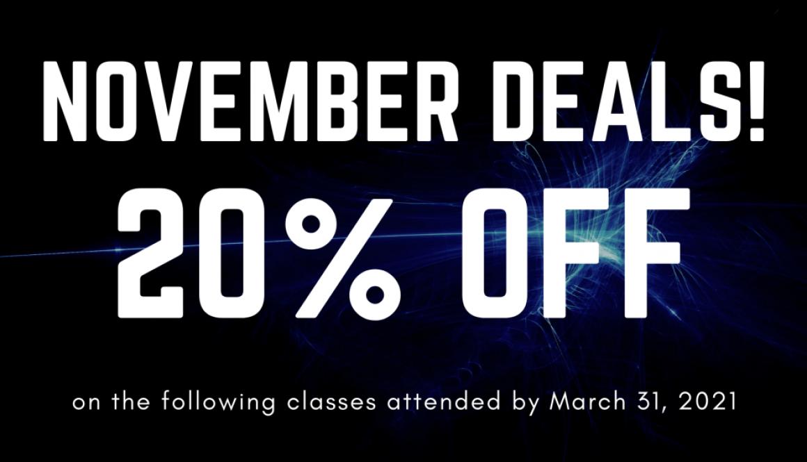 20% Off November Deal