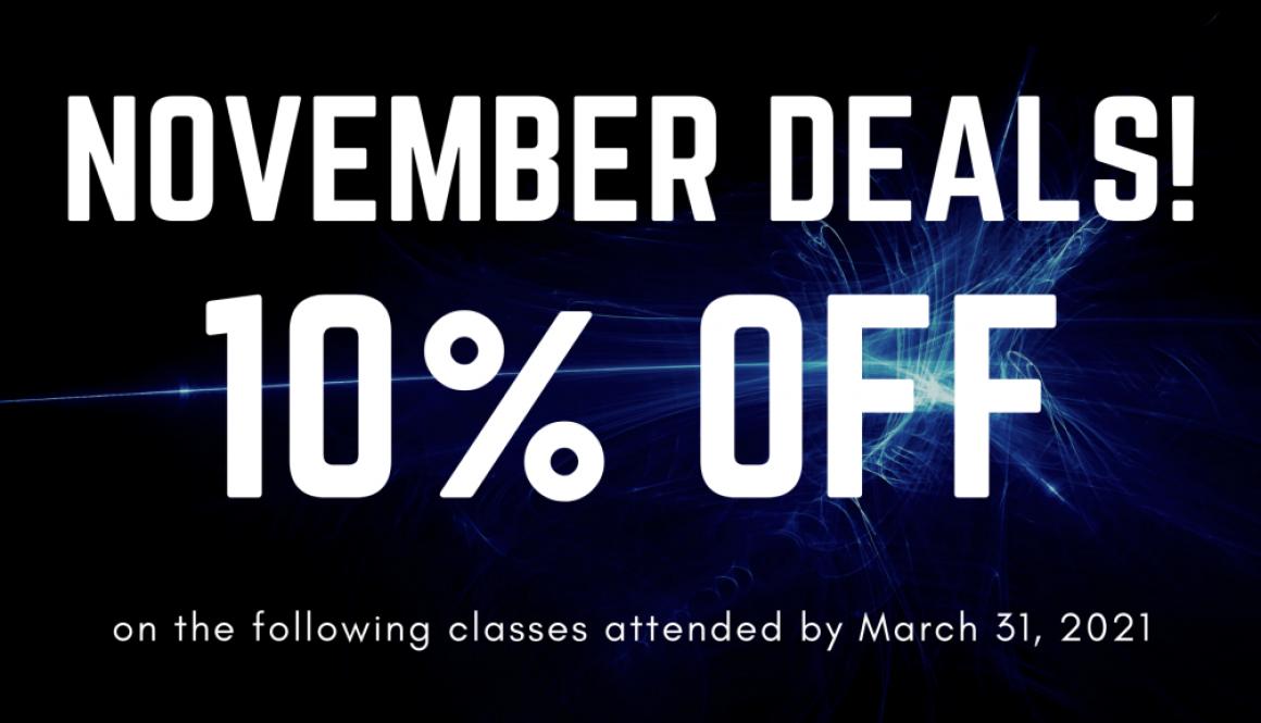 10% Off November Deals