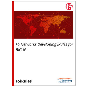 F5 Networks Developing iRules for BIG-IP