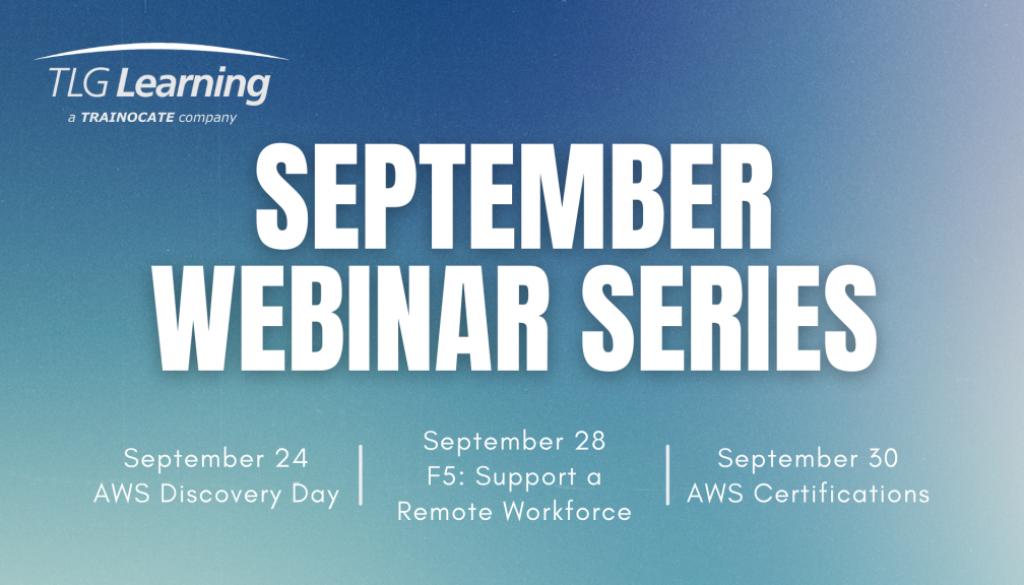 September Webinar Series